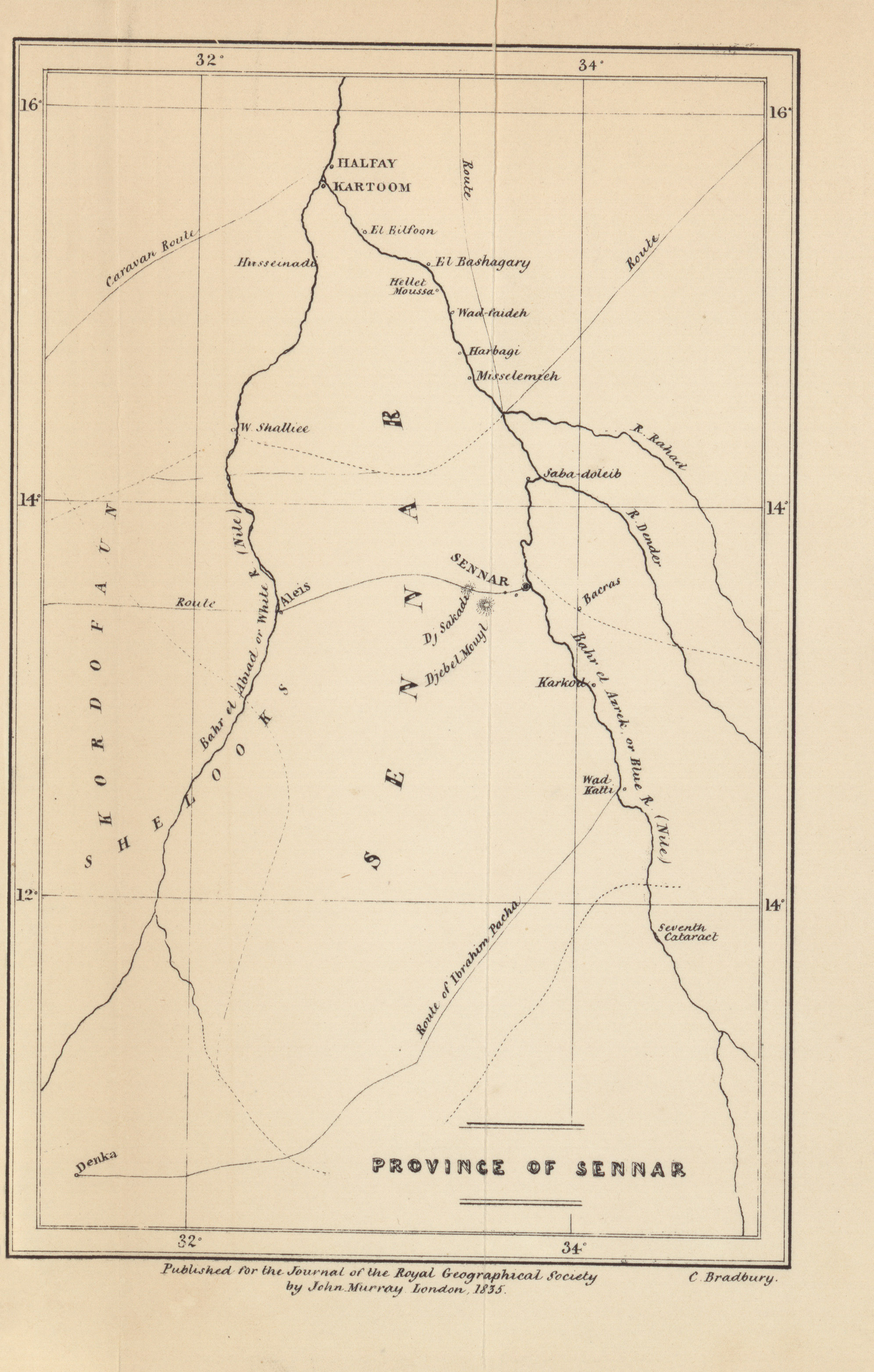 Maps From The Journal Of The Royal Geographical Society Of London - Map us laatitude shaw land