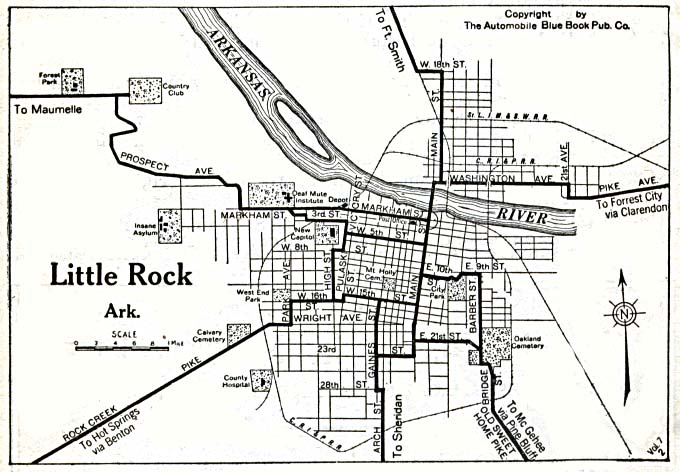 Arkansas Maps - Perry-Castañeda Map Collection - UT Library Online LITTLE ROCK MAP