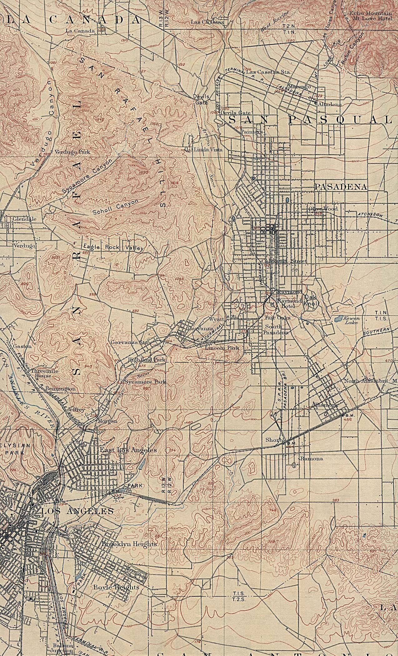 1900 map los angeles ca east