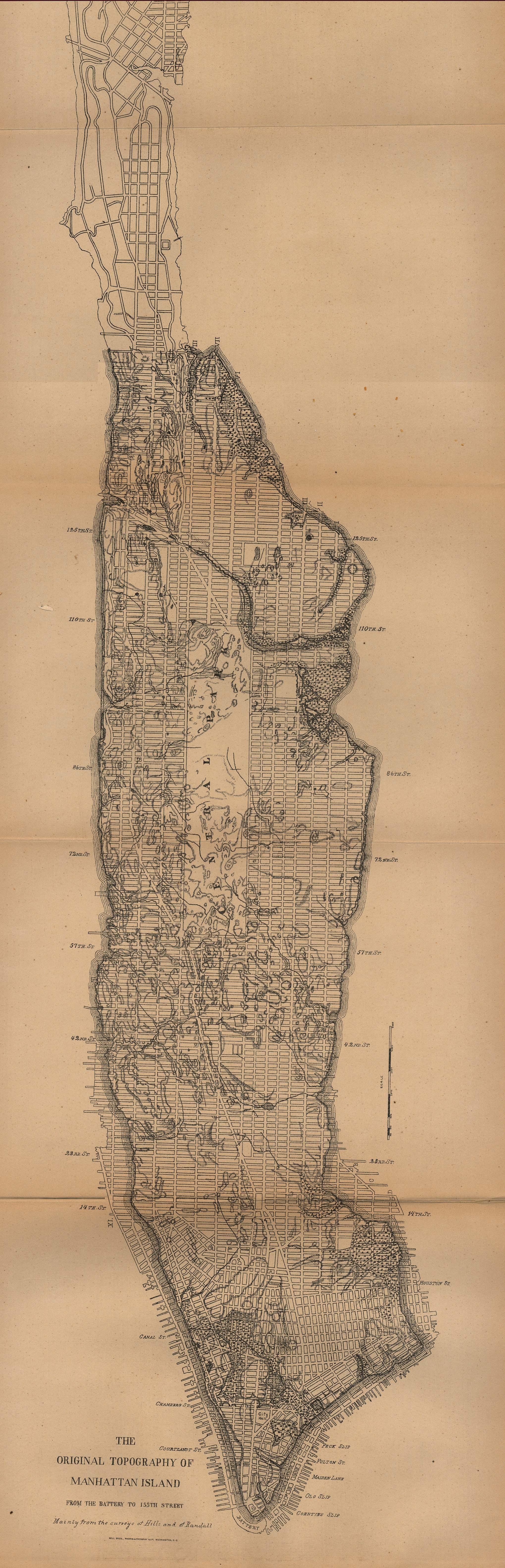 Manhattan Island Outline of Manhattan Island From
