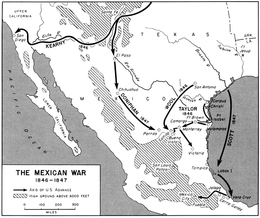 Mexican War Maps - Us history map activities spanish american war