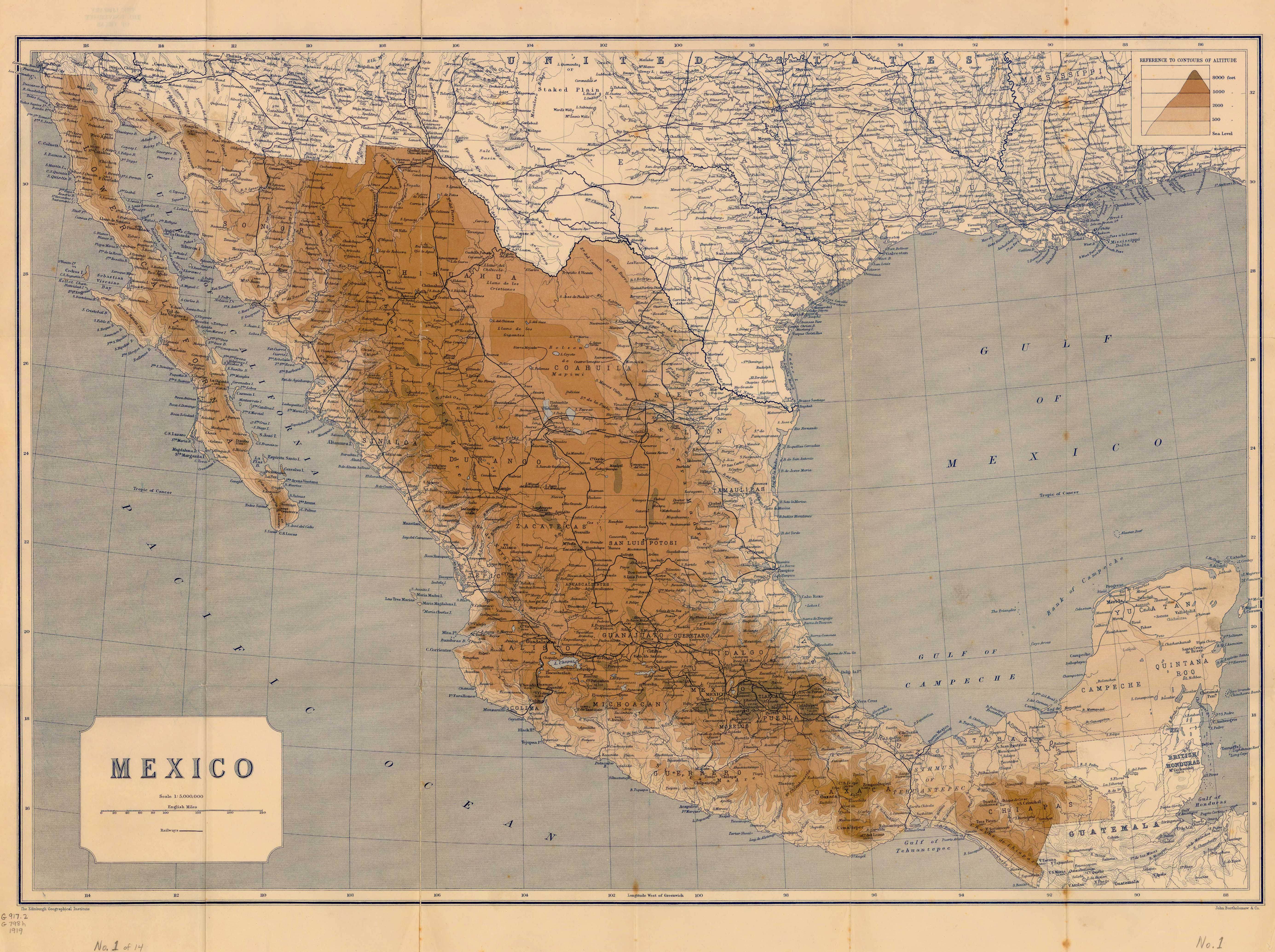 Map 0f Mexico