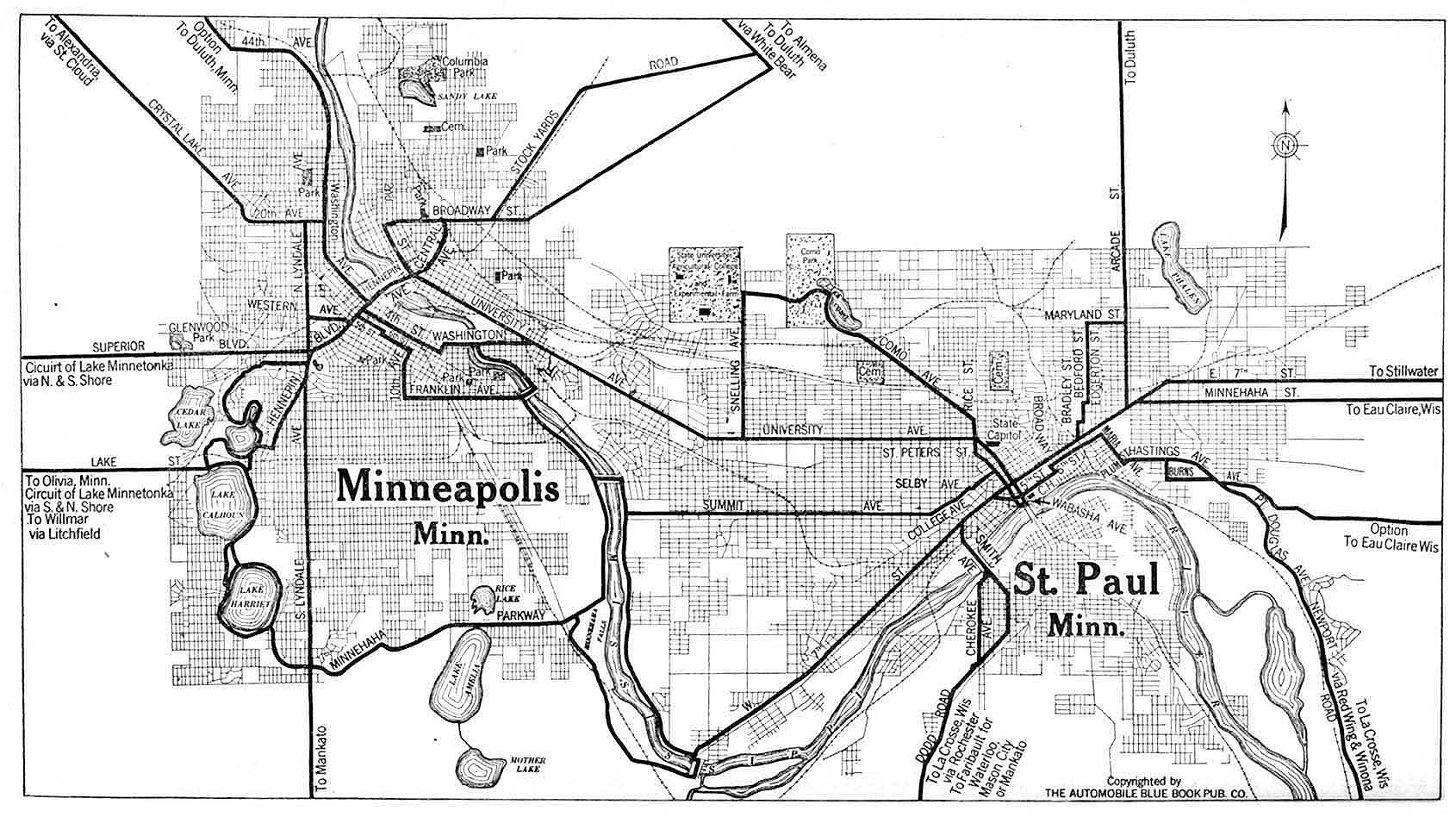 Minnesota Maps PerryCastañeda Map Collection UT Library Online - Minnesota on map of us