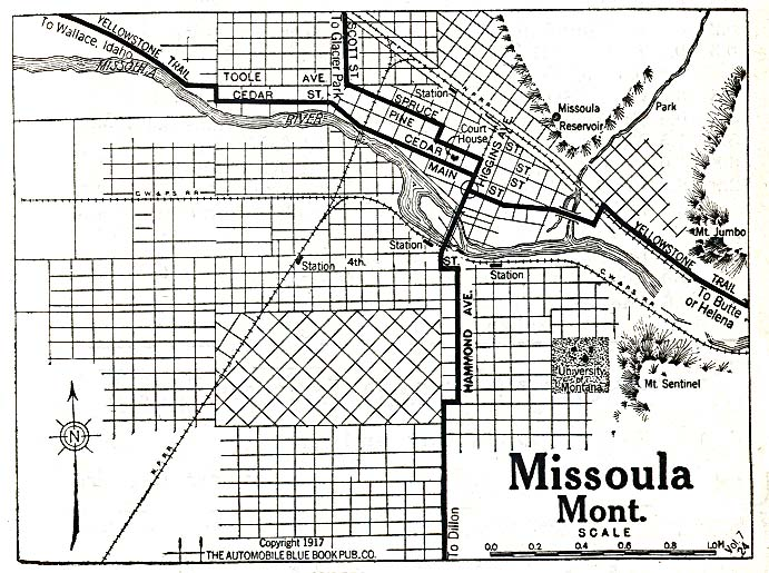 Missoula County Montana Maps And Gazetteers - Missoula mt us map