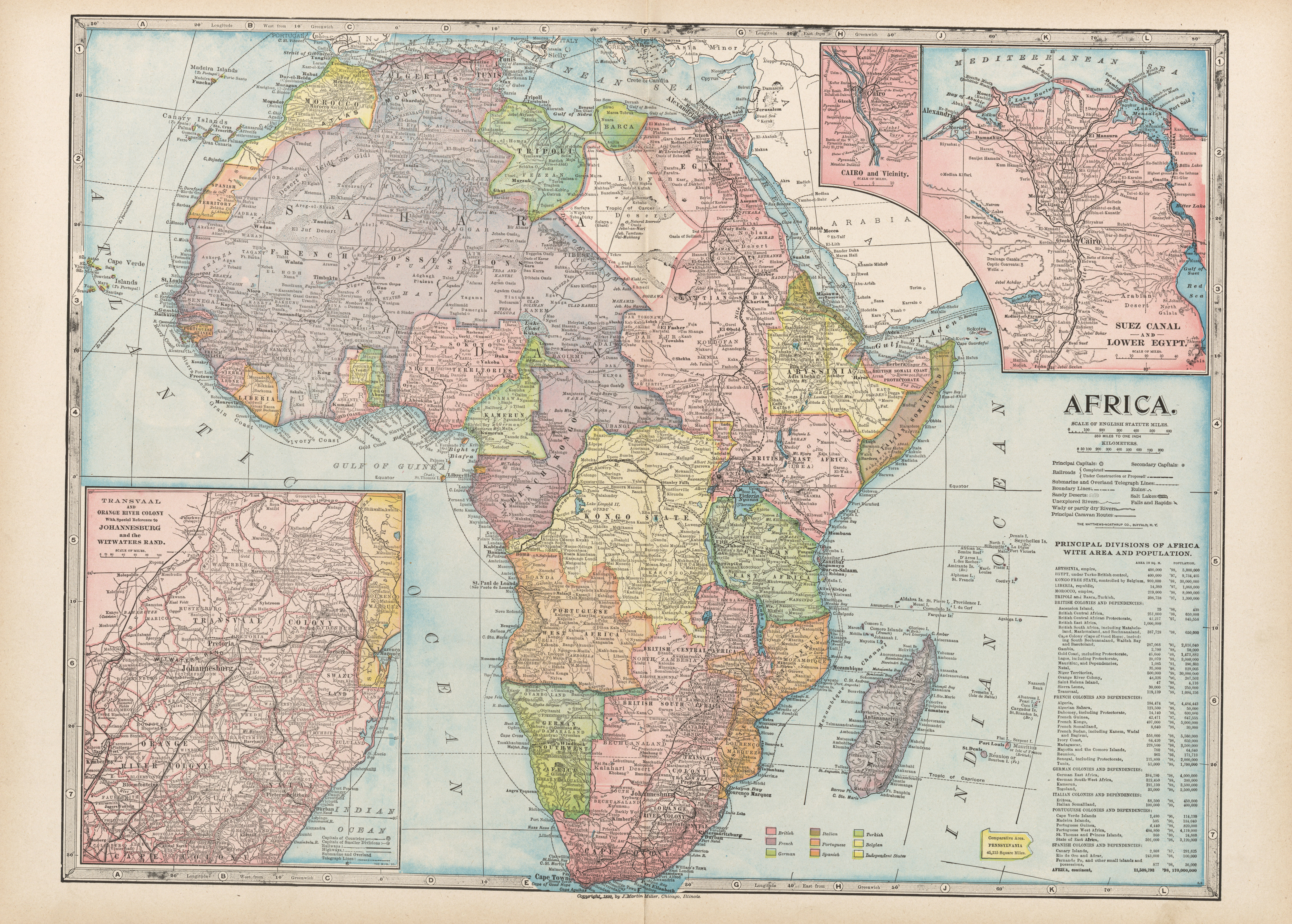 Maps from the monarch standard atlas perry castaeda map africa 123mb gumiabroncs Gallery
