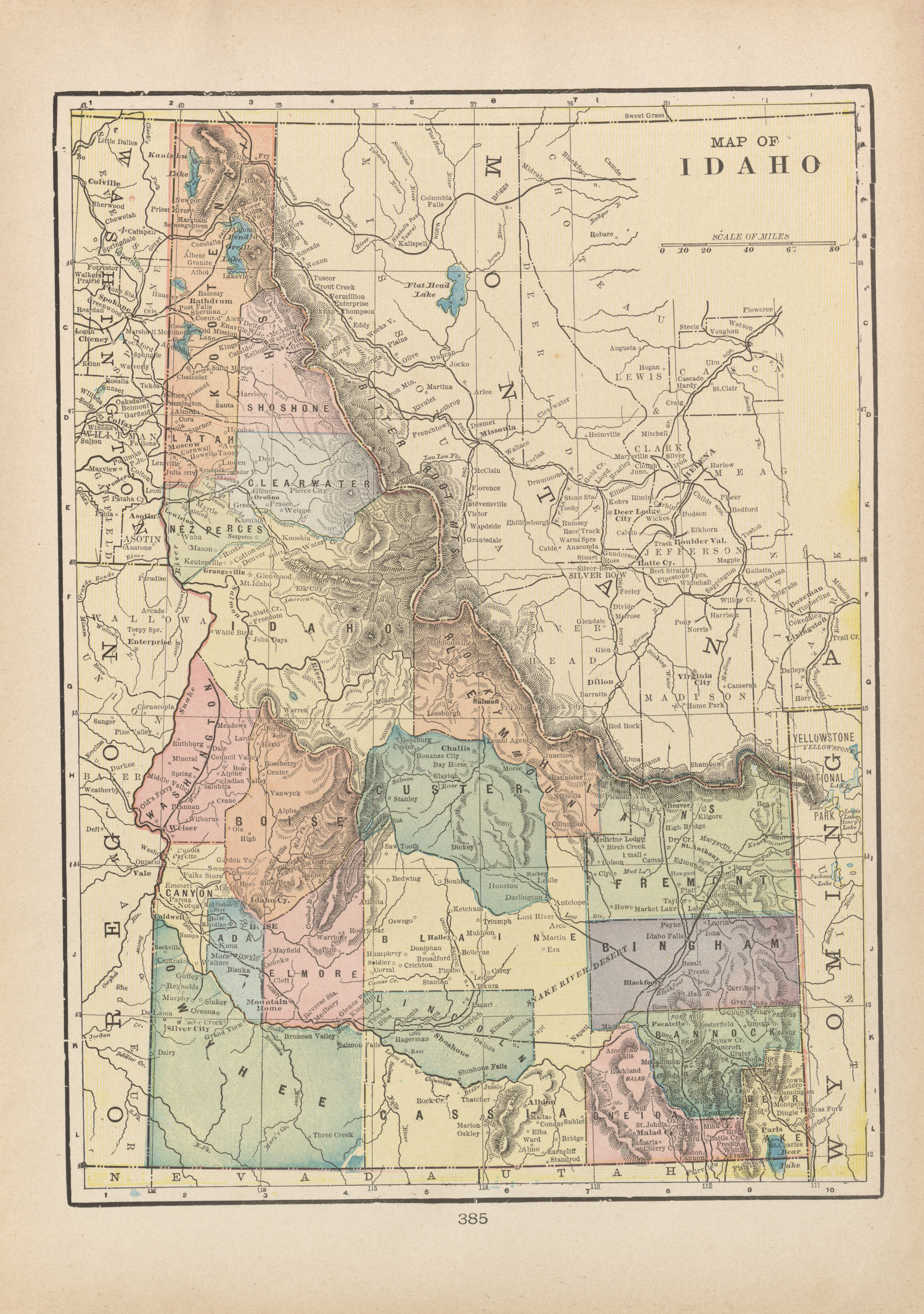 Kendrick Idaho Map.Maps From The Monarch Standard Atlas Perry Castaa Eda Map