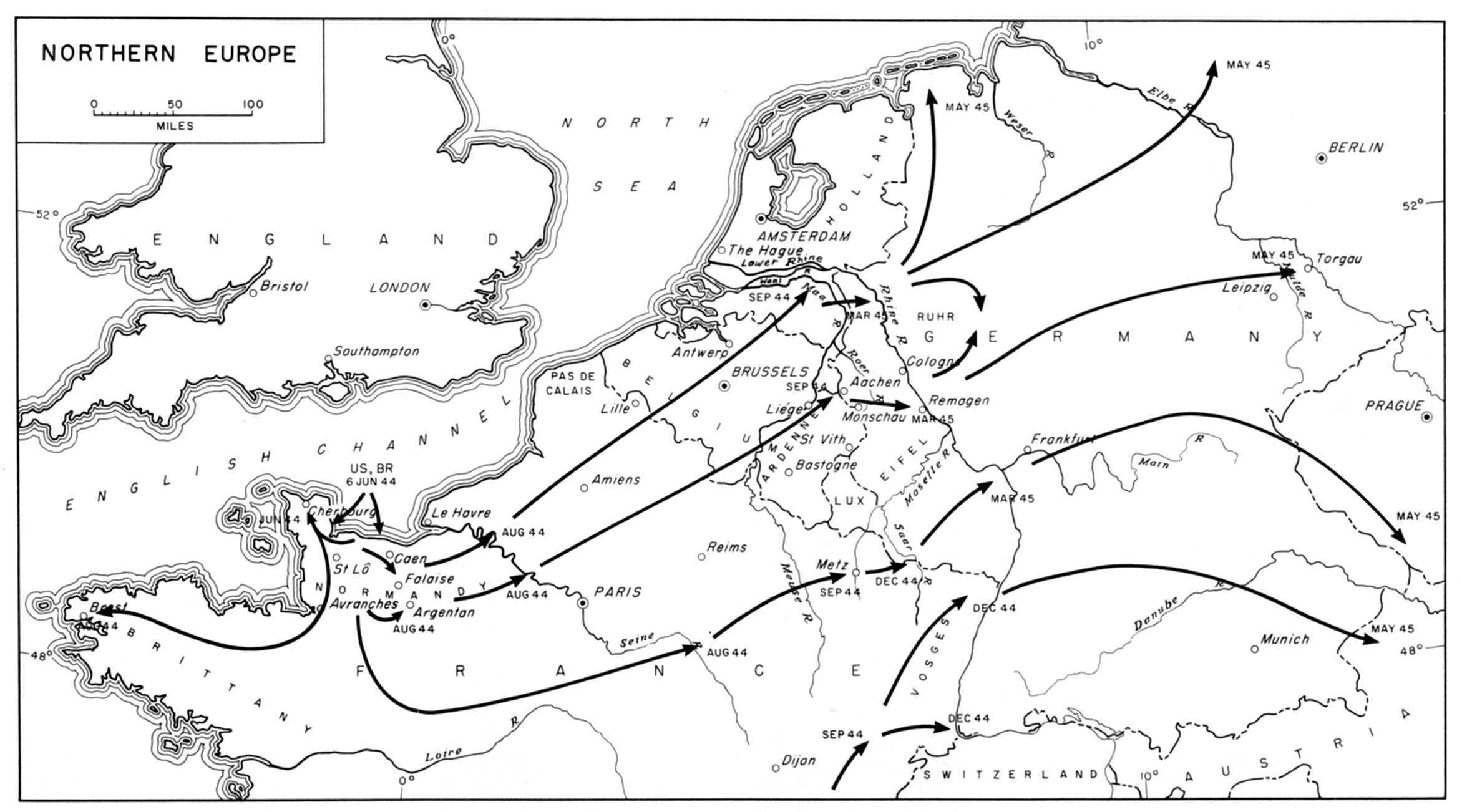 World war ii maps perry castaeda map collection ut library online northern europe gumiabroncs Choice Image