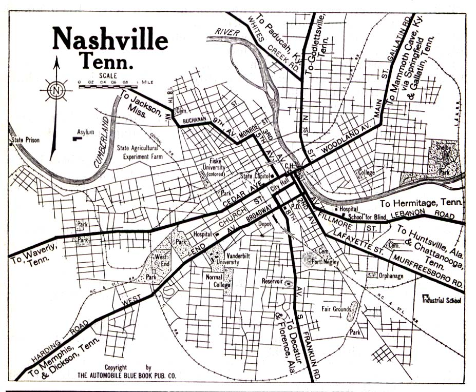 Nashville Maps – Nashville Tourist Attractions Map