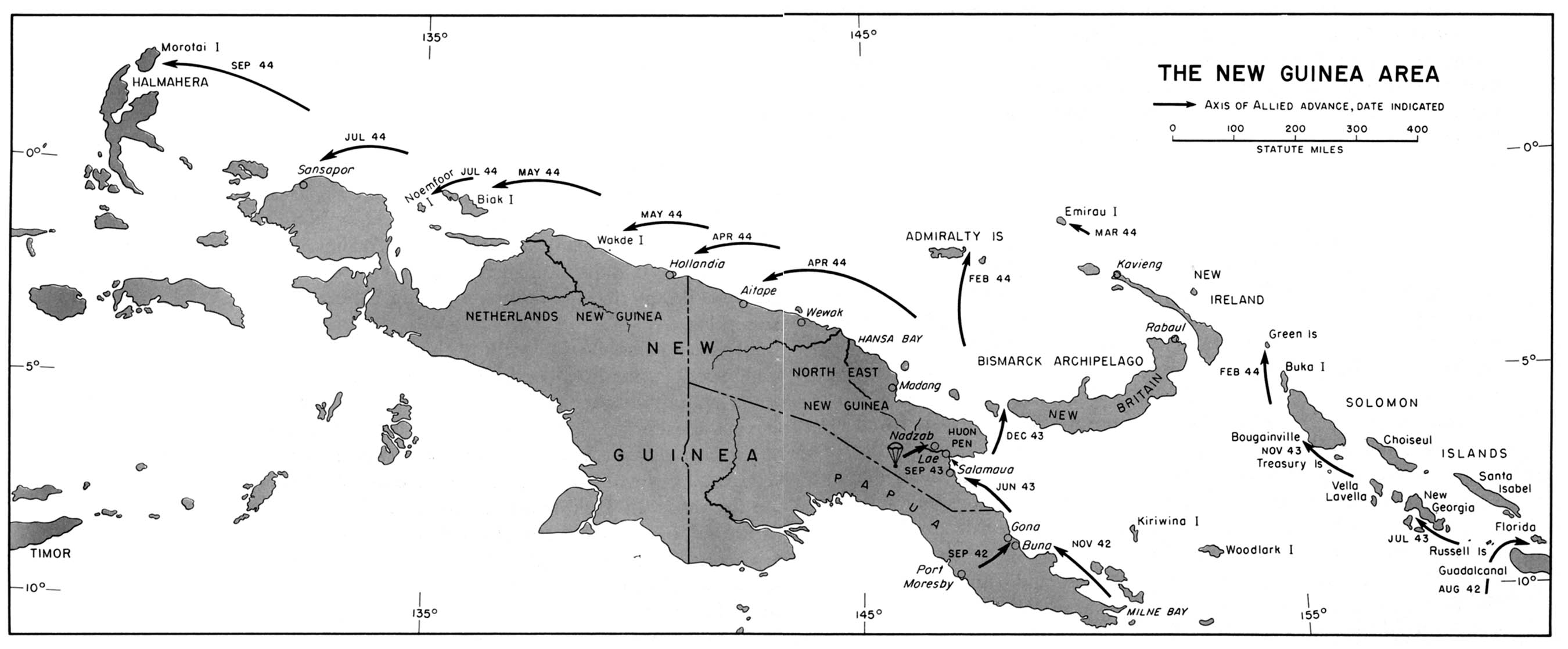 1up travel historical maps of world war ii w guinea area 1942 historical maps of world war ii new guinea area 1942 1944 from american gumiabroncs Image collections