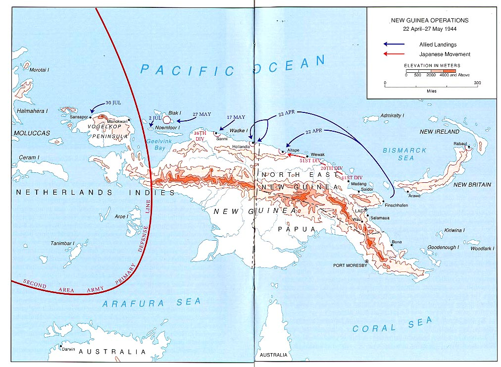 World war ii maps perry castaeda map collection ut library online new guinea operations 22 april 27 may 1944 gumiabroncs Image collections