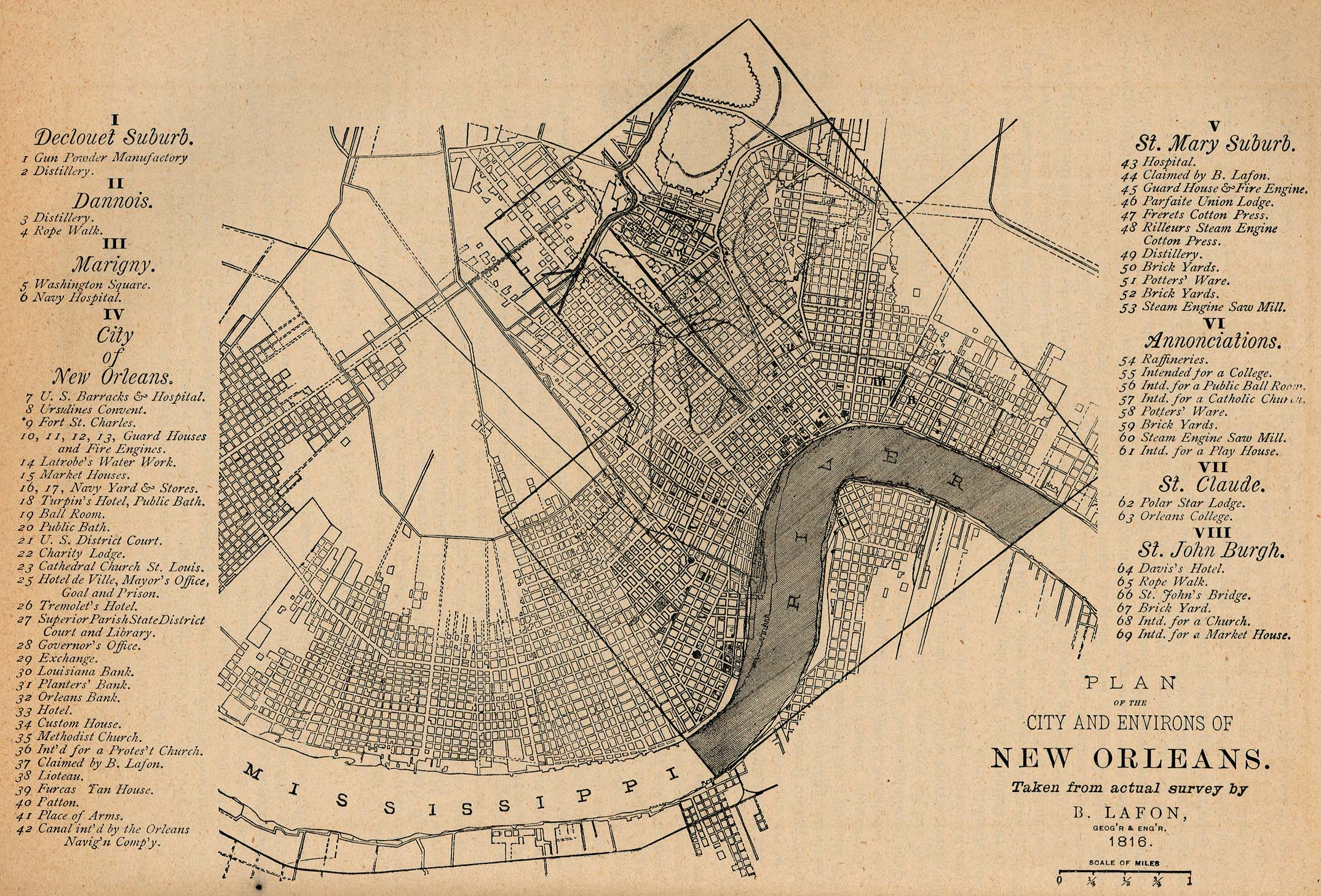 Historical Map Of New Orleans Louisiana Maps   Perry Castañeda Map Collection   UT Library Online