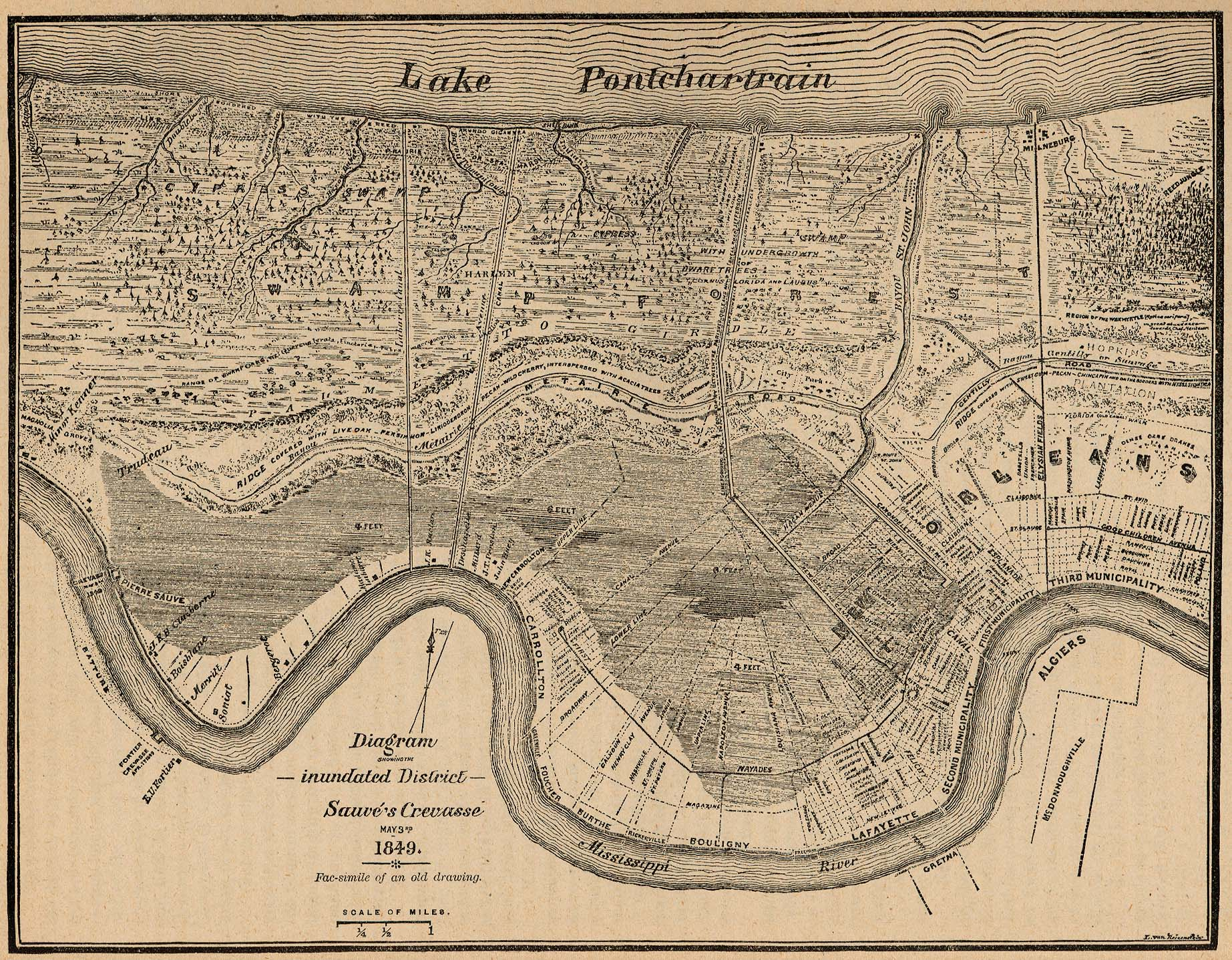 Antique New Orleans Map.Louisiana Maps Perry Castaneda Map Collection Ut Library Online