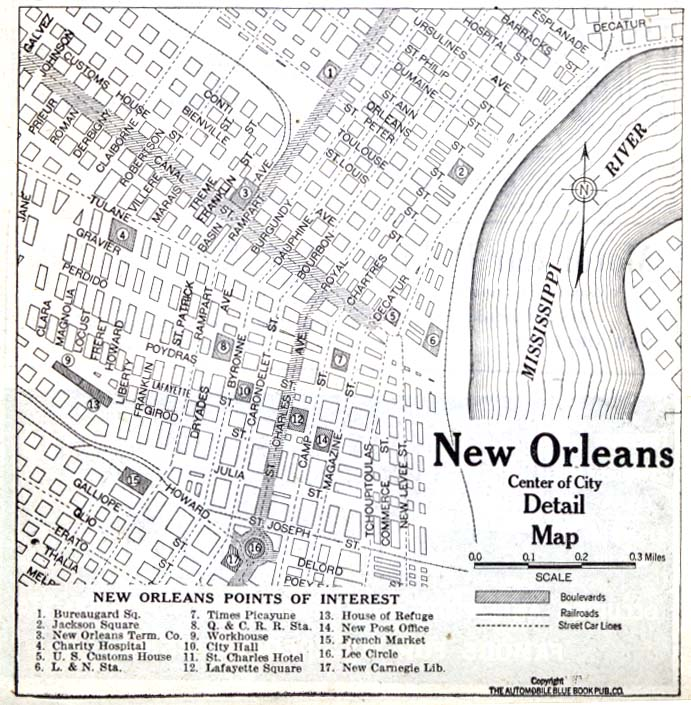 photograph regarding Printable Maps of New Orleans named Louisiana Maps - Perry-Castañeda Map Range - UT Library