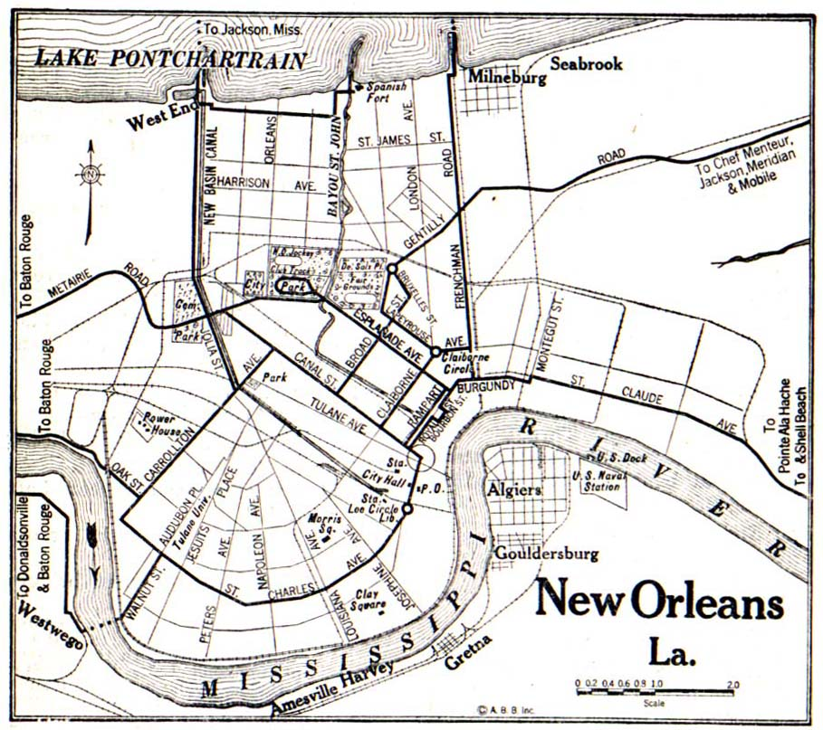 Louisiana New Orleans Map.Louisiana Maps Perry Castaneda Map Collection Ut Library Online
