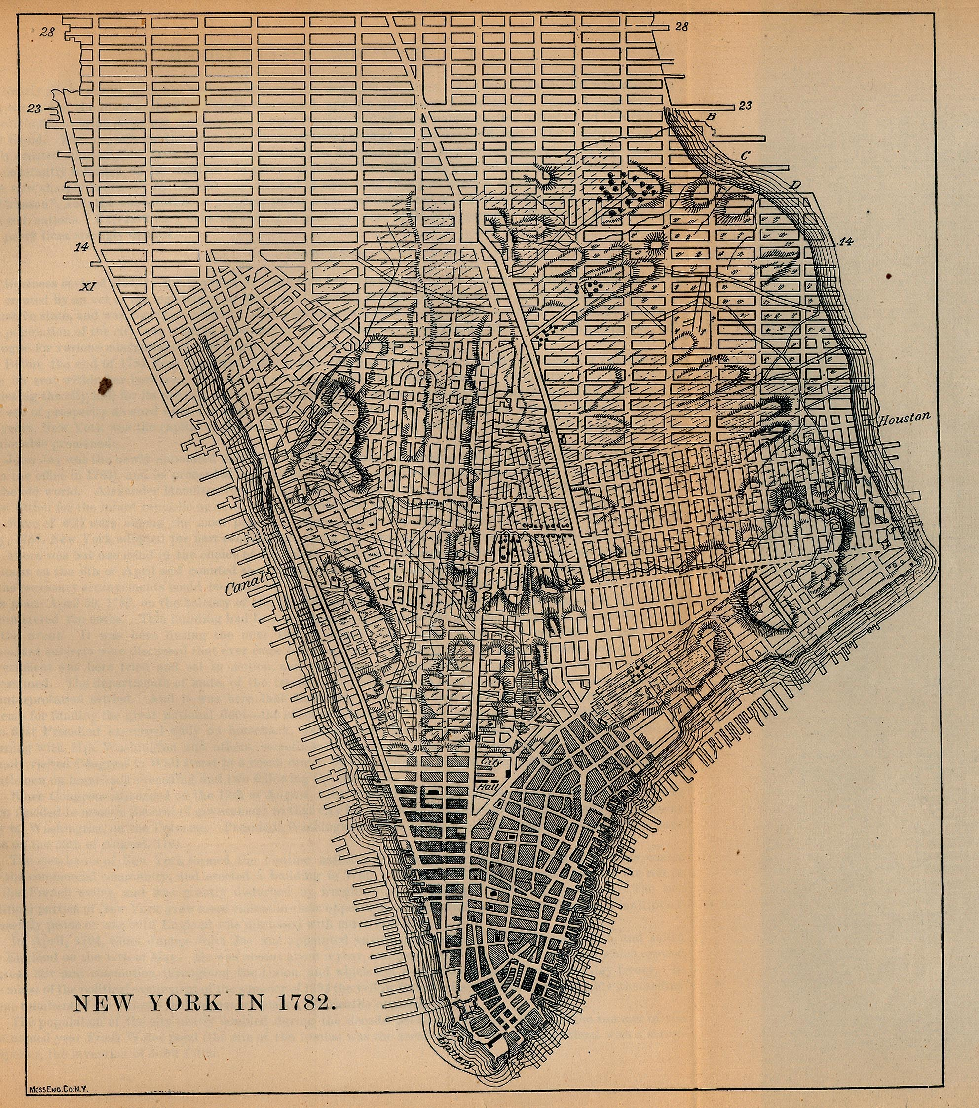570K New York City 1782 [Map