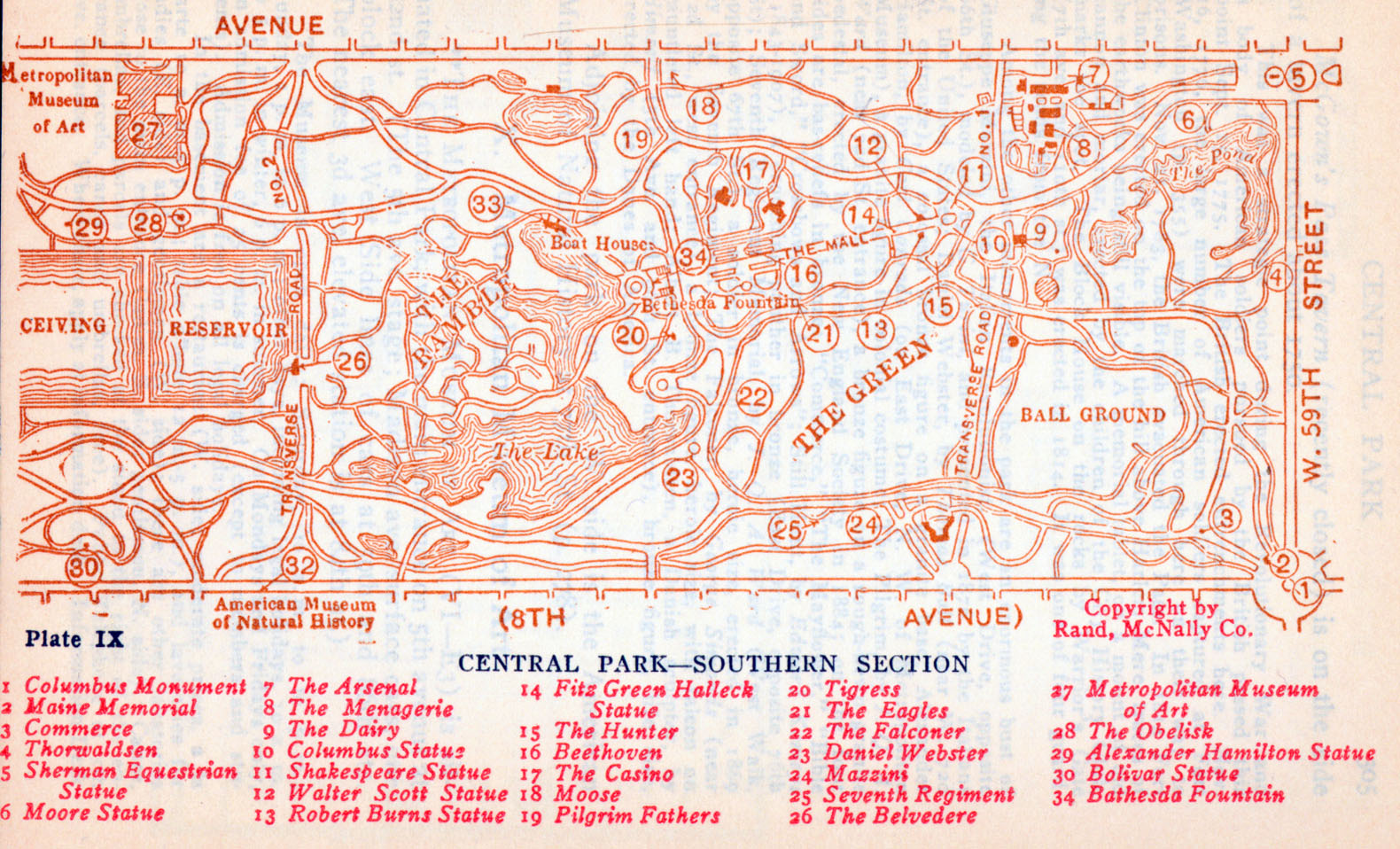Central Park New York Map Pdf.New York Maps Perry Castaneda Map Collection Ut Library Online