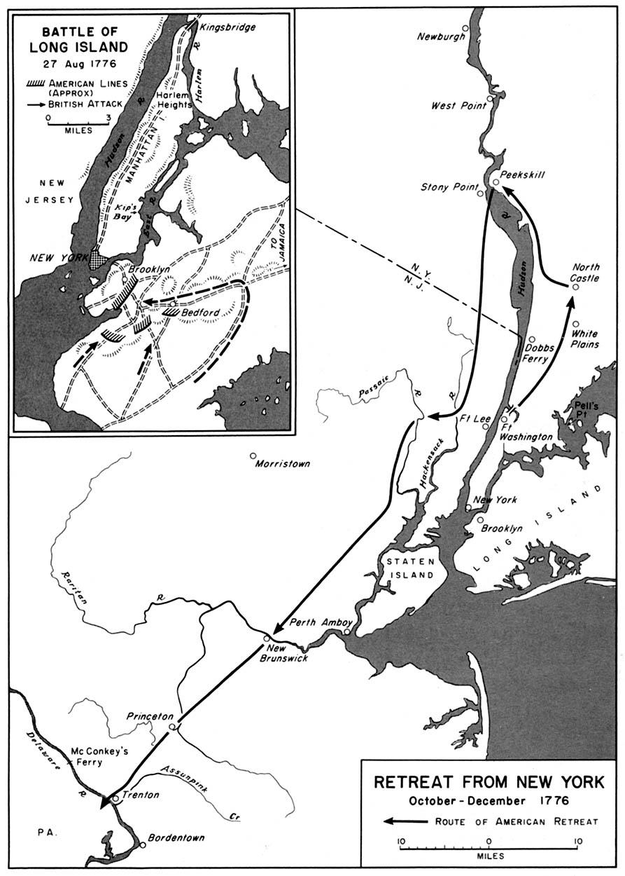 1776 retreat from new york october december 1776