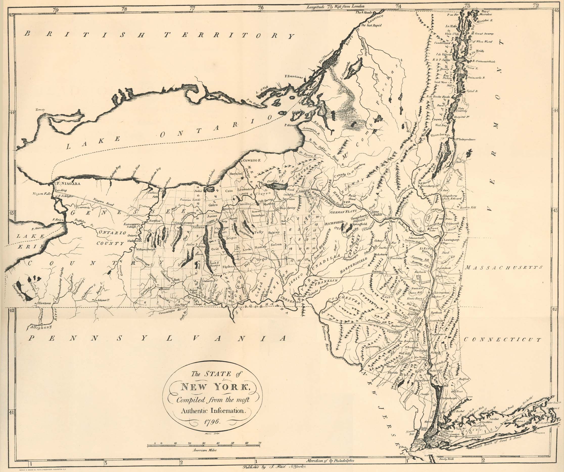 New York Maps PerryCastañeda Map Collection UT Library Online - Us map 1796