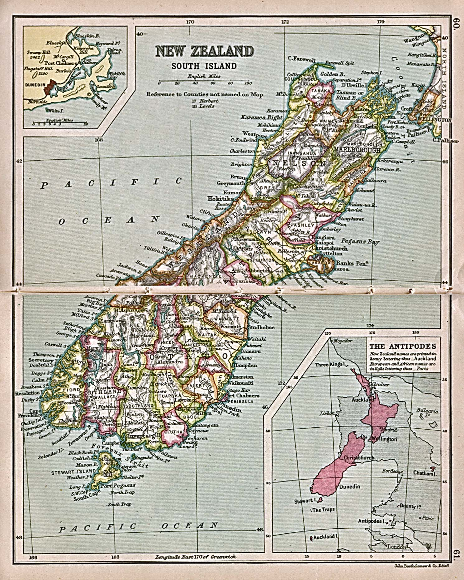 1Up Travel Historical Maps of Australia and the PacificNew – New Zealand Tourist Map South Island