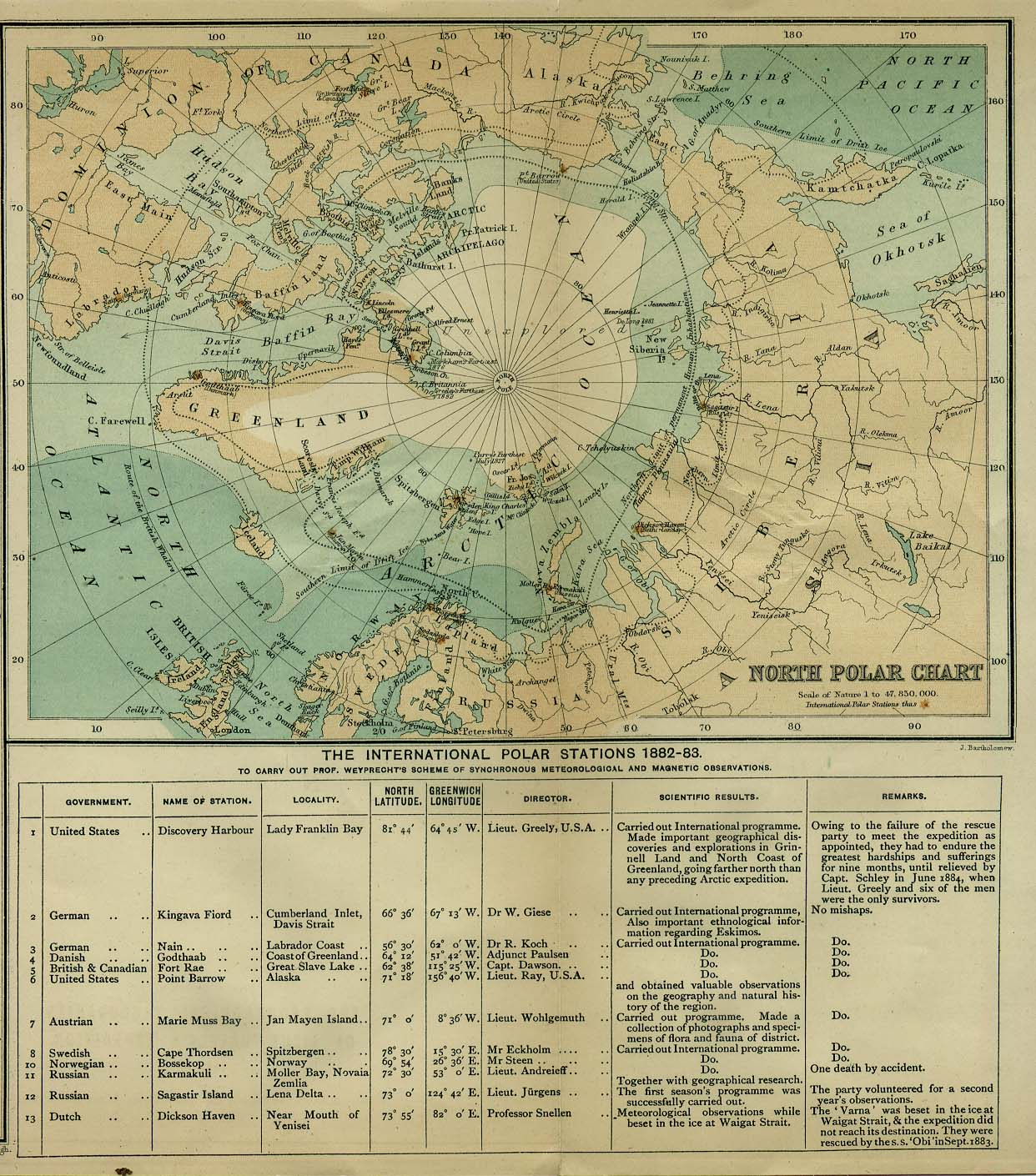 Polar Regions and Oceans Historical Maps  PerryCastaeda Map