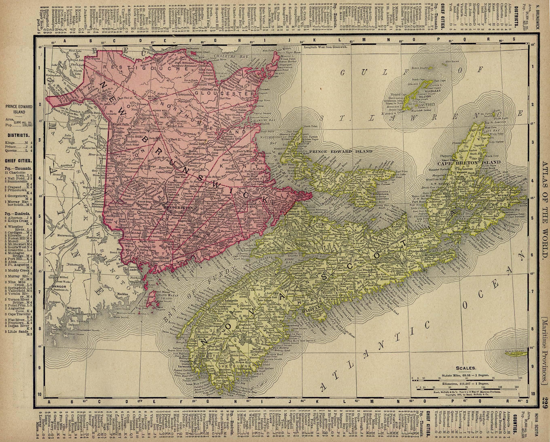 Map Of Canada Nova Scotia.Nova Scotia History Index