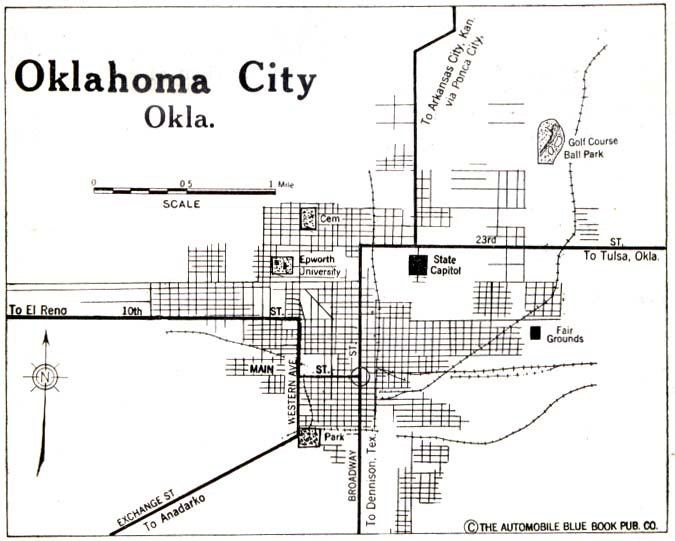 Oklahoma Maps PerryCastañeda Map Collection UT Library Online - Oklahoma city map