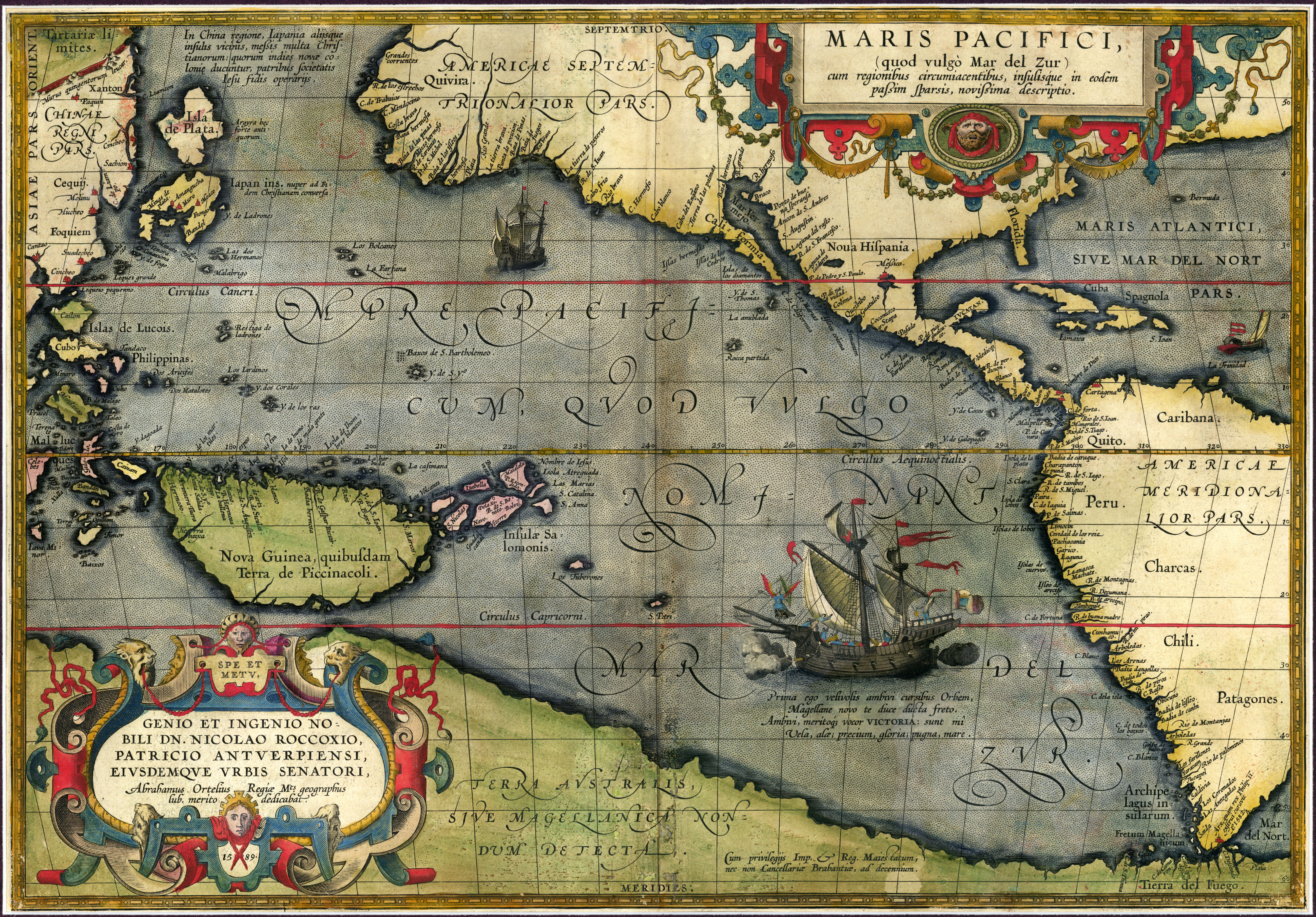 pacific ocean  . australia and the pacific historical maps  perrycastañeda map