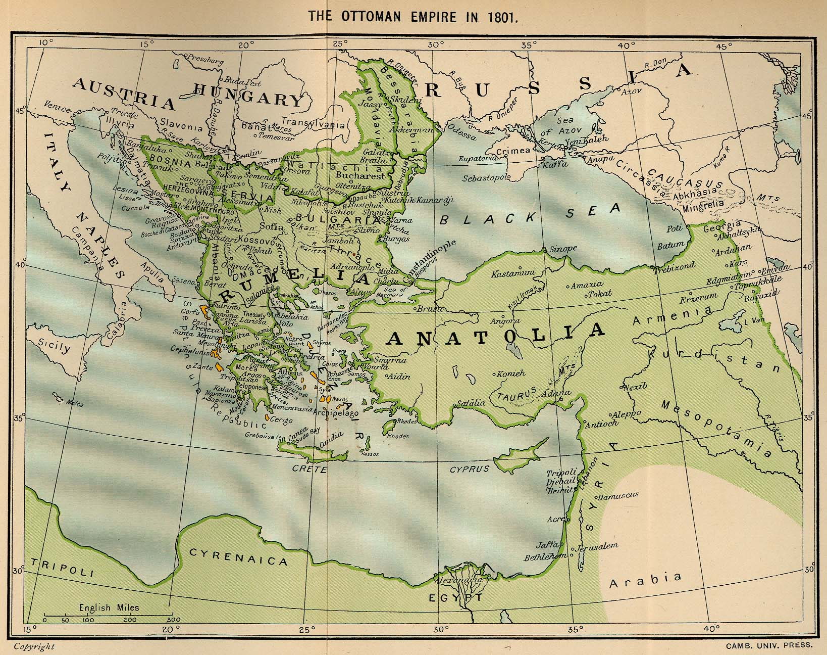Map Of Europe Ottoman Empire