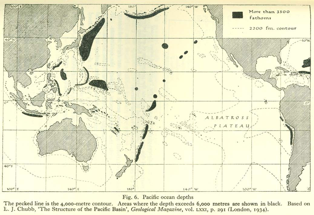Pacific islands 1943 1945 perry castaeda map collection ut pacific ocean depths sciox Choice Image
