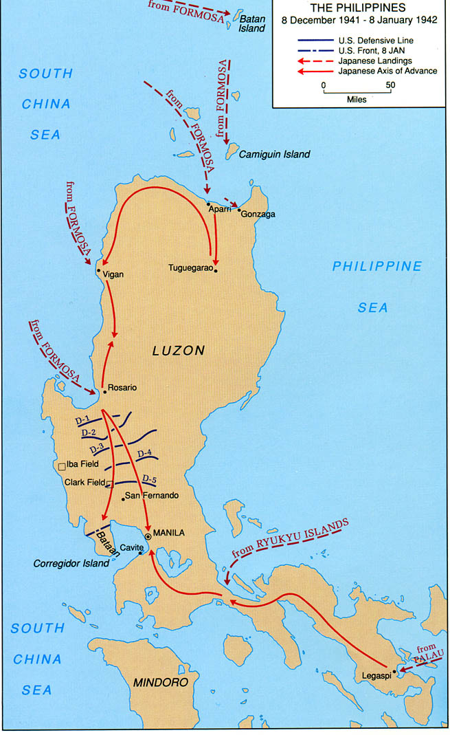 Bataan Philippines  city photos gallery : Philippines, 8 January 1942 From the Philippines Campaign Brochure by ...