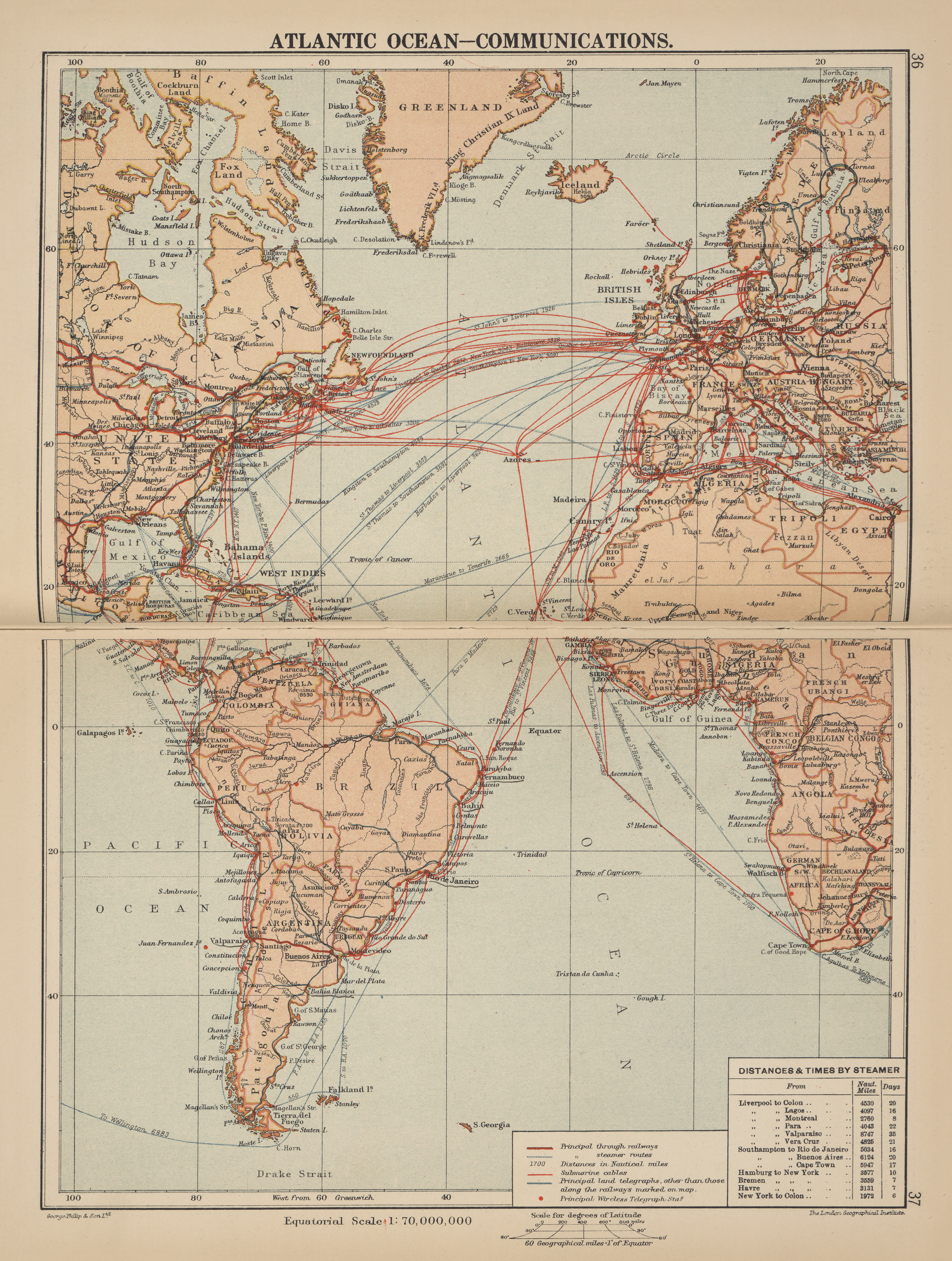 Maps From Philips Chamber Of Commerce Atlas A Graphic Survey The Worlds Trade With Commercial Compendium And Gazetteer Index By George Philip Son