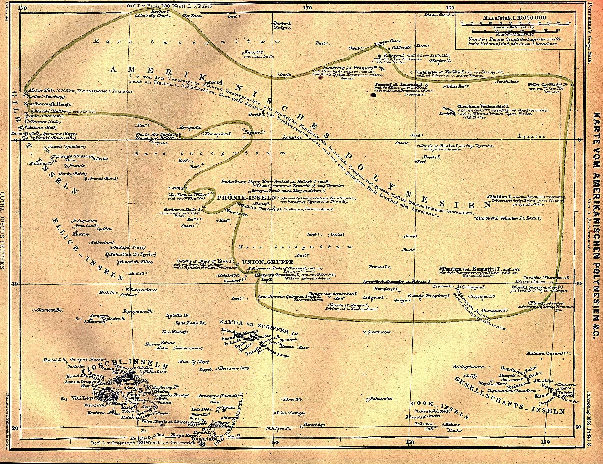 amerikanischen polynesien american polynesia 1859