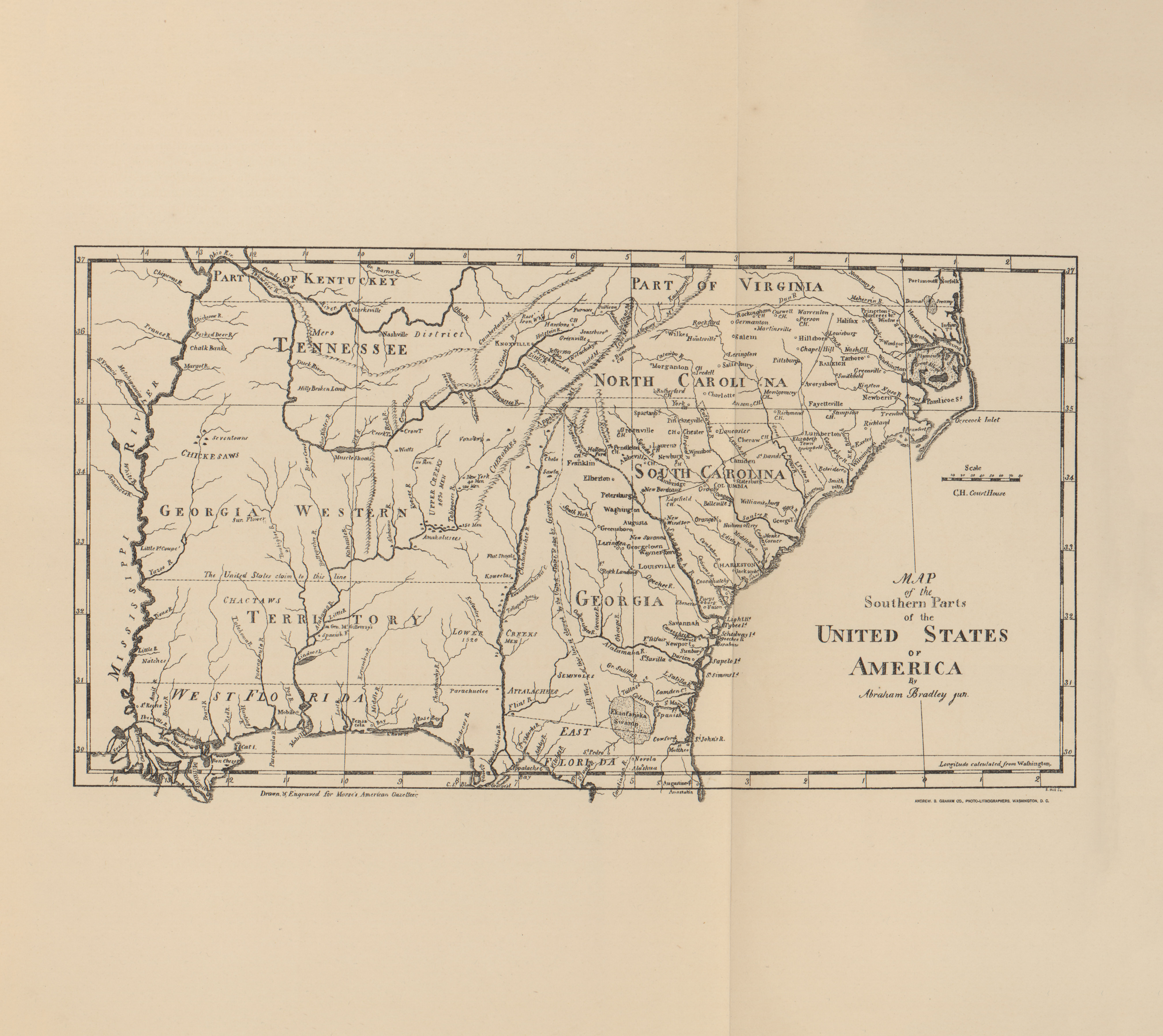 1790 Us Map.Selected Maps From A Century Of Population Growth In The United