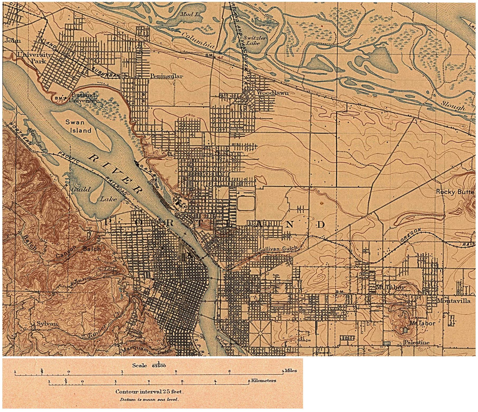 1Up Travel - Historical Maps of U.S Cities.Portland, Oregon ...