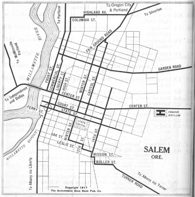 Salem Oregon Map Google.Oregon Maps Perry Castaneda Map Collection Ut Library Online