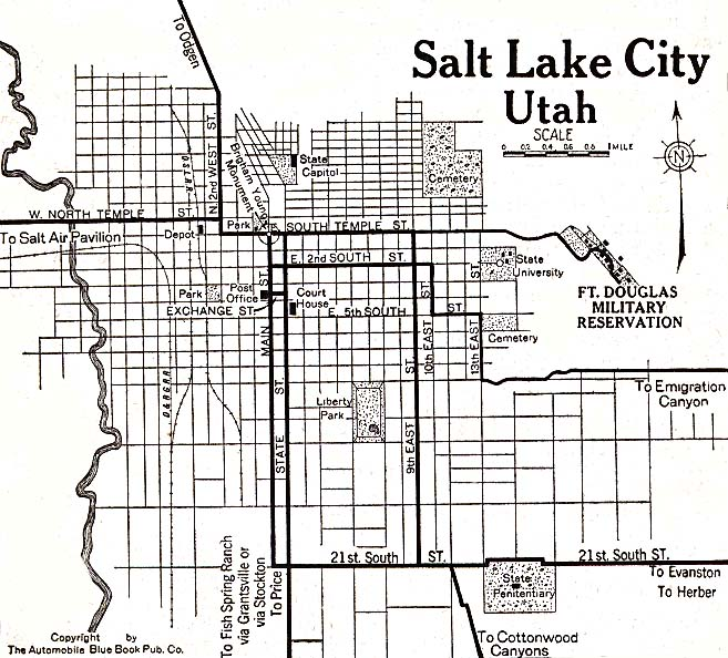 1Up Travel Historical Maps of US CitiesSalt Lake City Utah – Salt Lake City Tourist Map