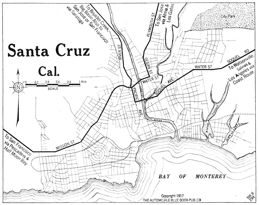 street map of santa cruz ca California Maps Perry Castaneda Map Collection Ut Library Online street map of santa cruz ca
