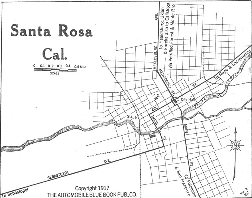 Santa Rosa California Map.California Maps Perry Castaneda Map Collection Ut Library Online
