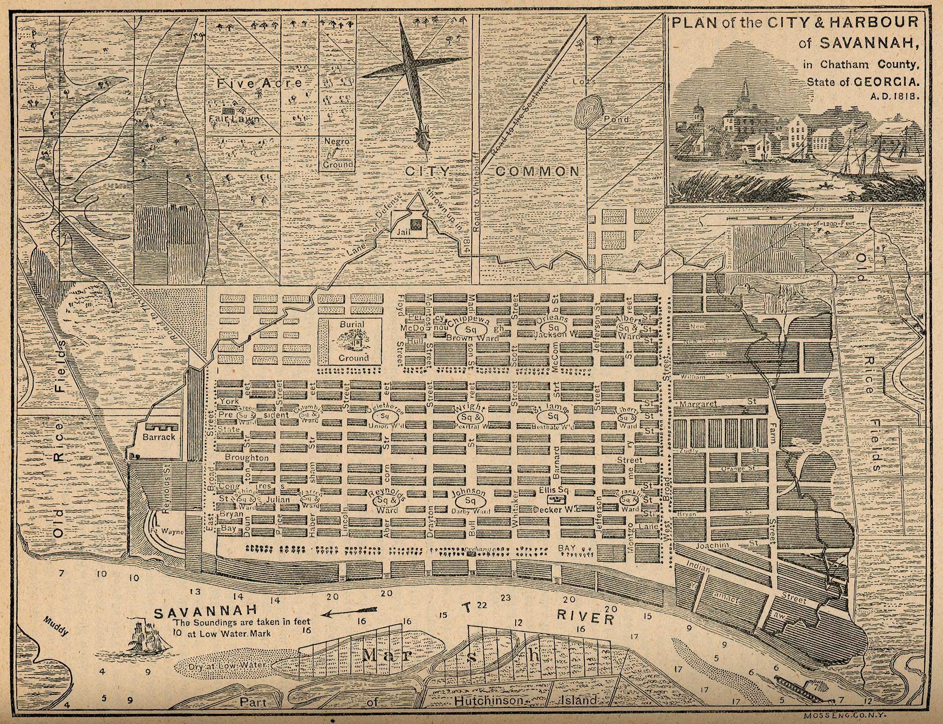 Georgia Maps Map Collection UT – Tourist Map Of Savannah Ga