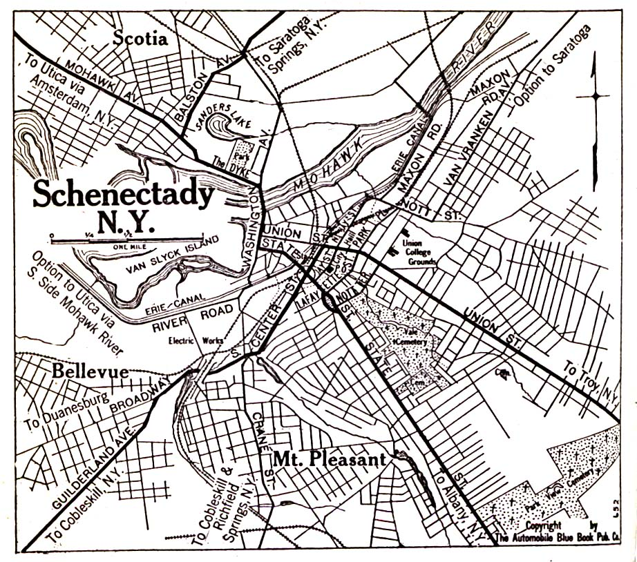 Historical Maps of U.S Cities. Schenectady, New York 1920 Automobile Blue Book (323K)