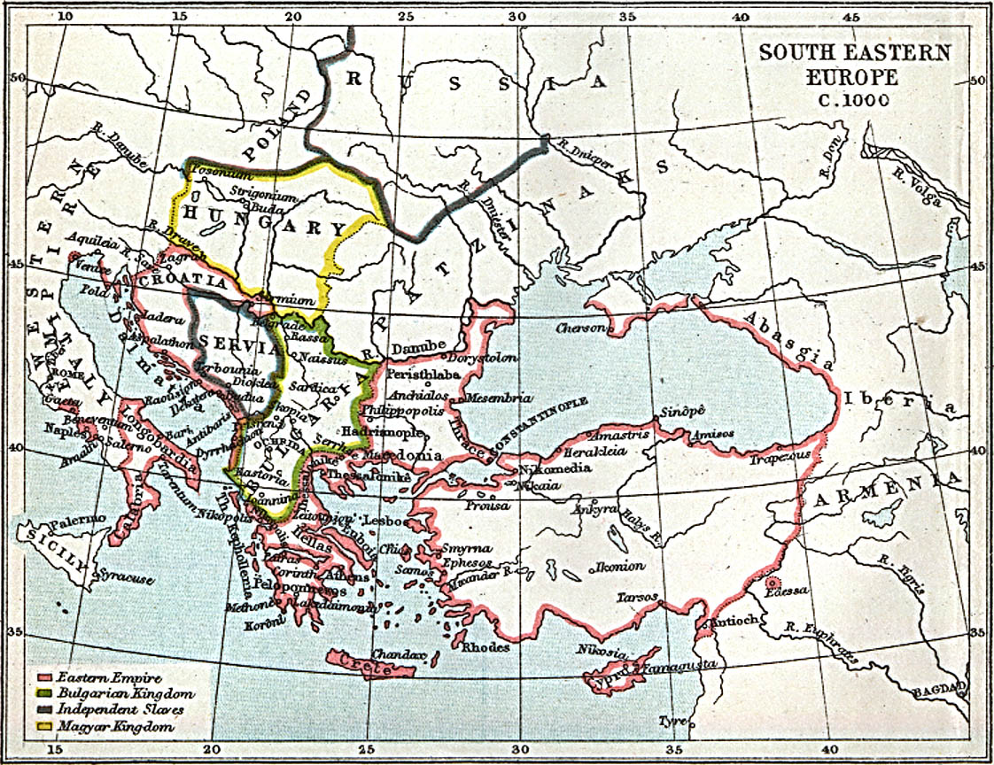 south eastern europe 1000 ad