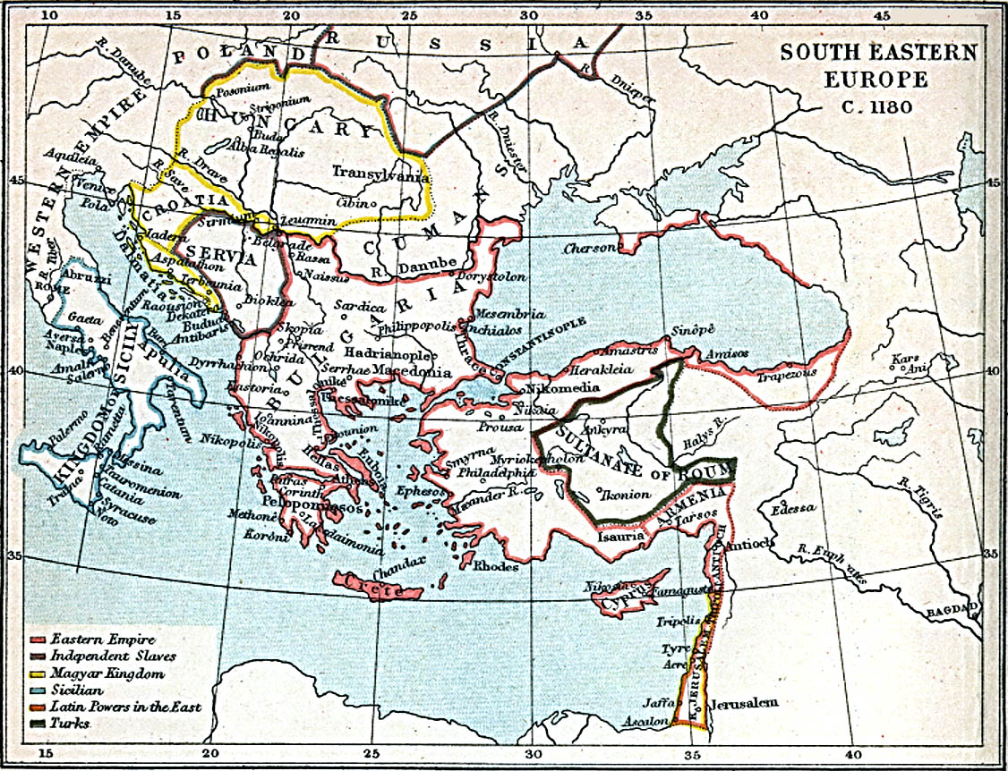 1up Travel Maps Of South East Europe South Eastern Europe 1180 A D 374k