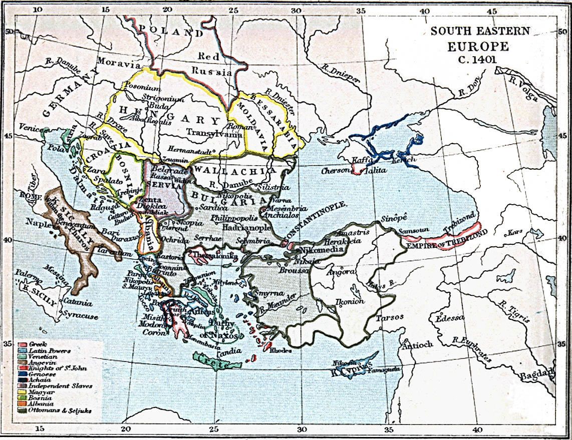 ... South Eastern Europe 1401 A.D. ...