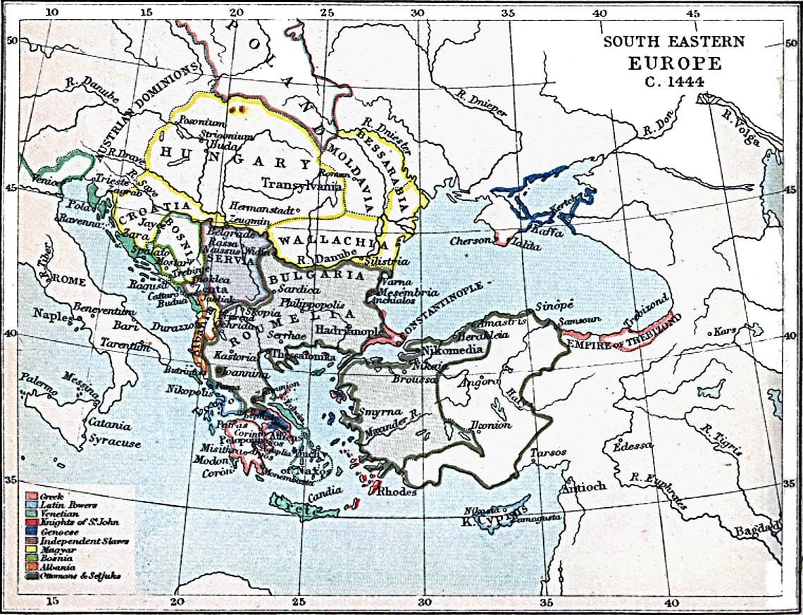 south eastern europe 1444 ad