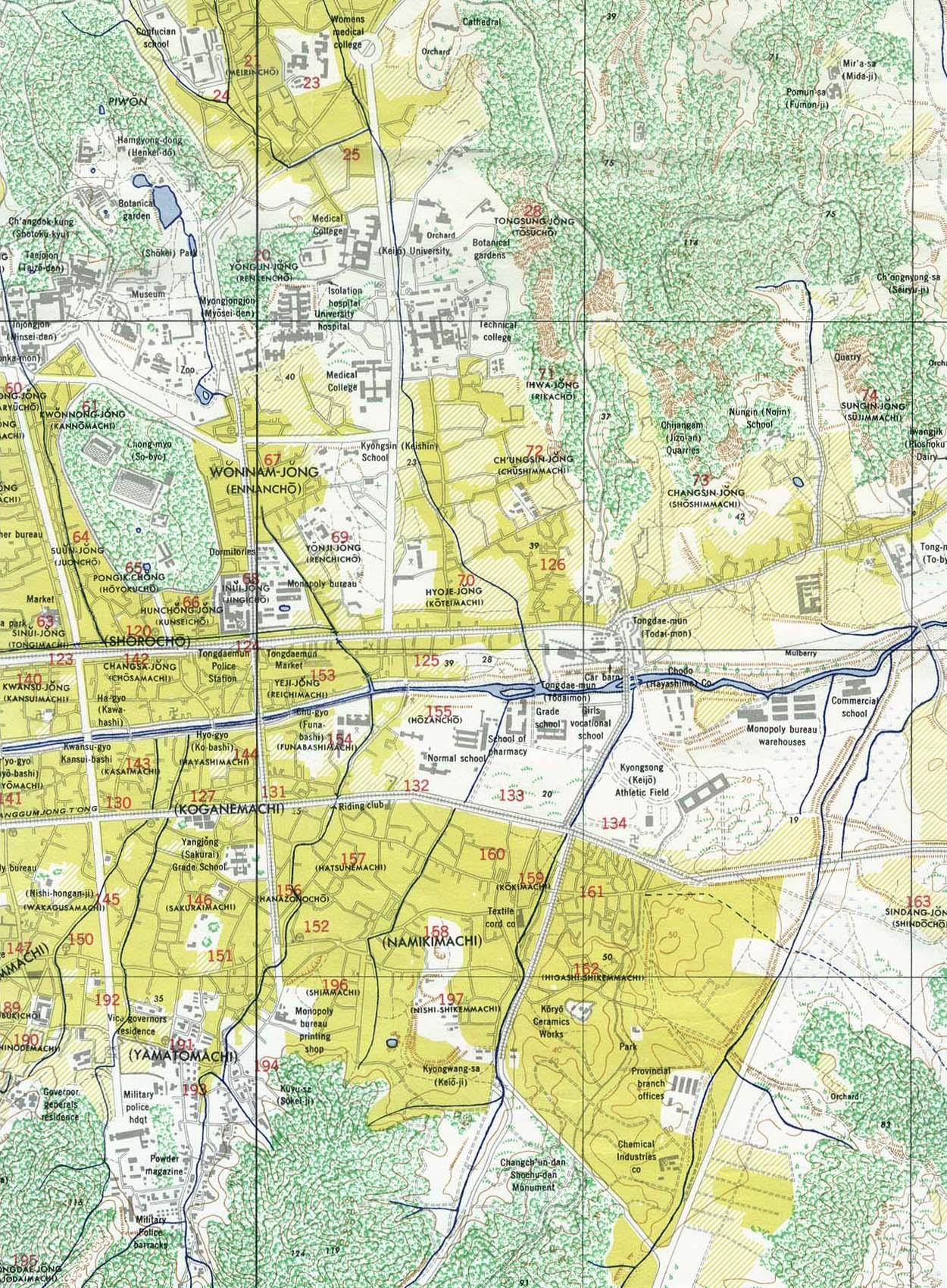 Korea Maps PerryCastañeda Map Collection UT Library Online - Google map us base korea