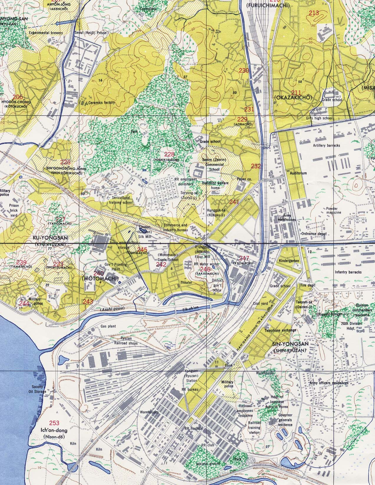 Or entire map 7 6mb from kyongsong or seoul keijo kyonggi do keiki do korea original scale 112500 u s army map service 1946