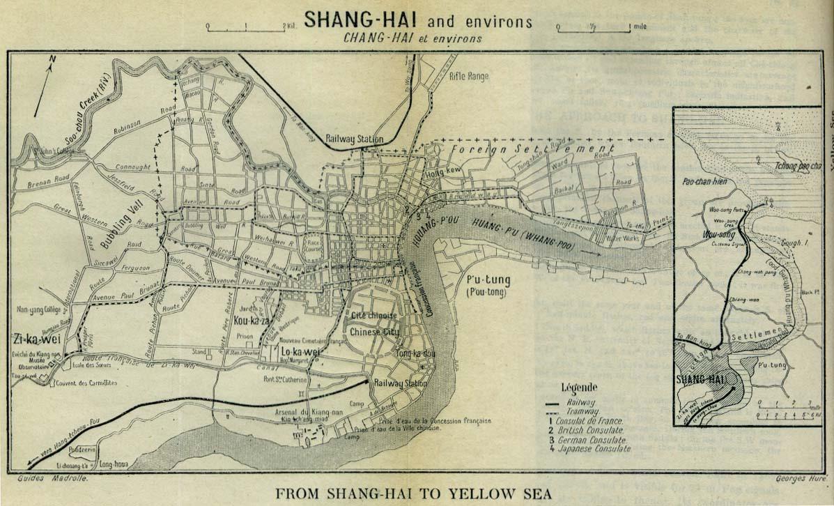 China XII Shanghai I - China historical map 1890 1907