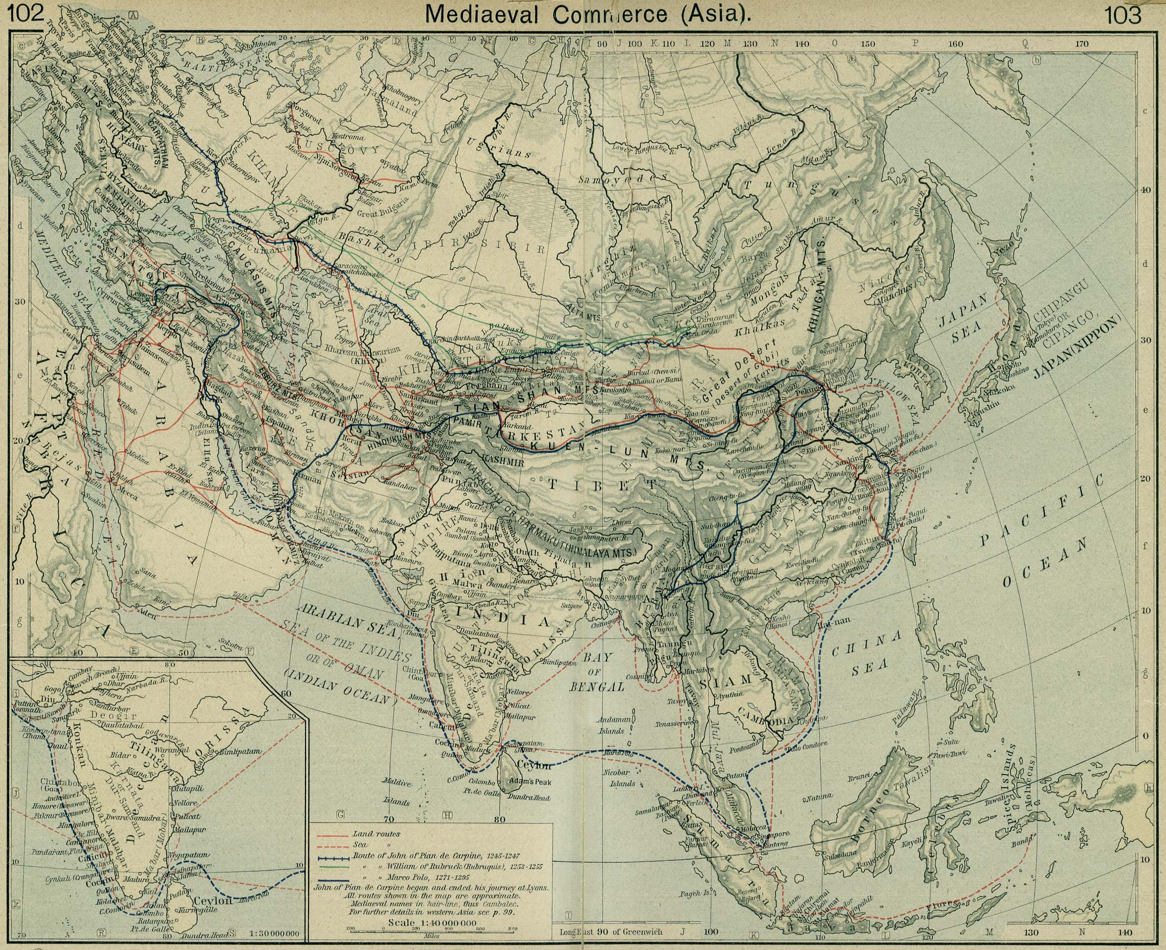 Asia historical maps perry castaeda map collection ut library asia medieval commerce gumiabroncs Images
