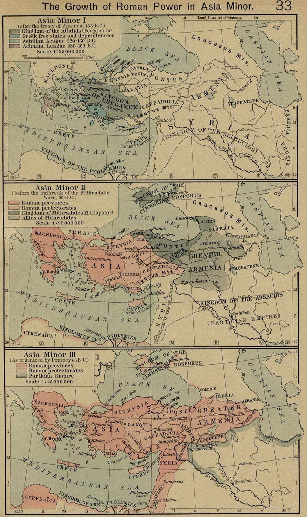 Middle East Historical Maps Perry Castaneda Map Collection Ut