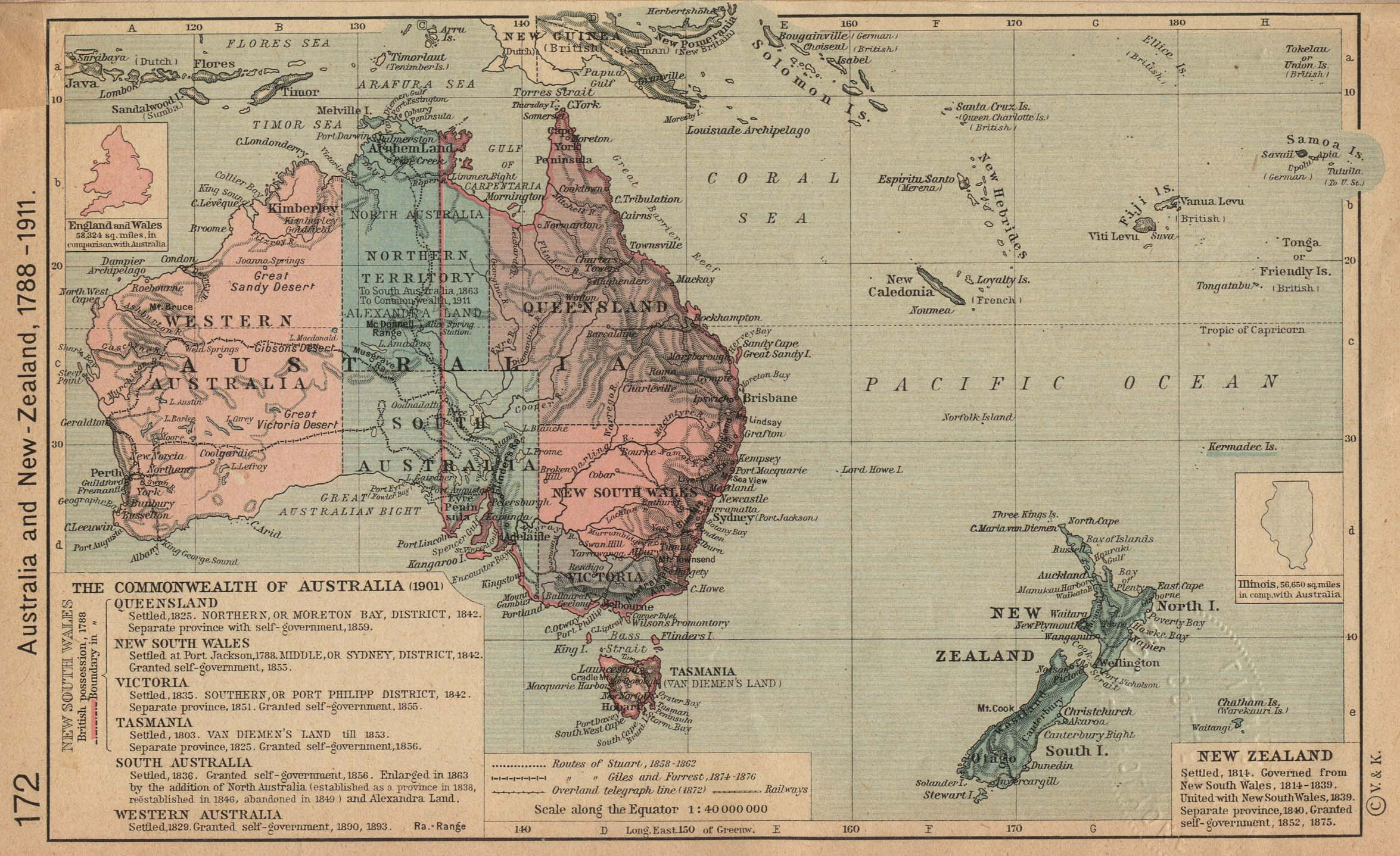 Australia Map In R.1up Travel Historical Maps Of Australia And The Pacific Australia